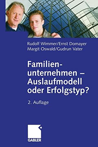 9783322828965: Familienunternehmen  Auslaufmodell oder Erfolgstyp?