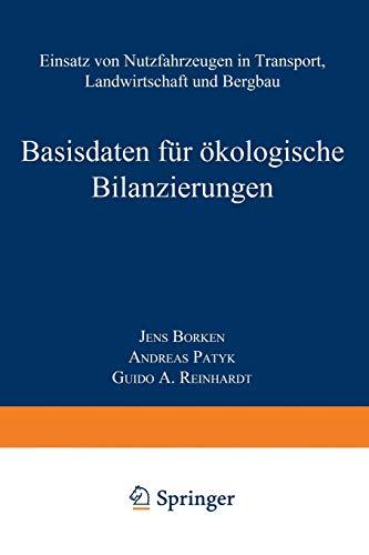 9783322918277: Basisdaten Fur Okologische Bilanzierungen: Einsatz Von Nutzfahrzeugen in Transport, Landwirtschaft Und Bergbau