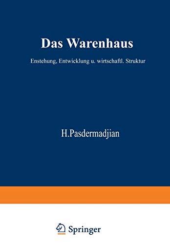 9783322961600: Das Warenhaus: Entstehung, Entwicklung und wirtschaftliche Struktur