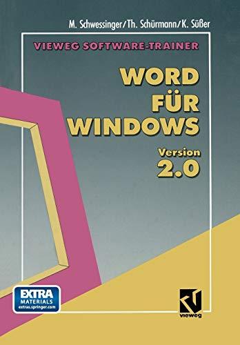 Vieweg Software-Trainer Word für Windows 2.0: T. Schürmann