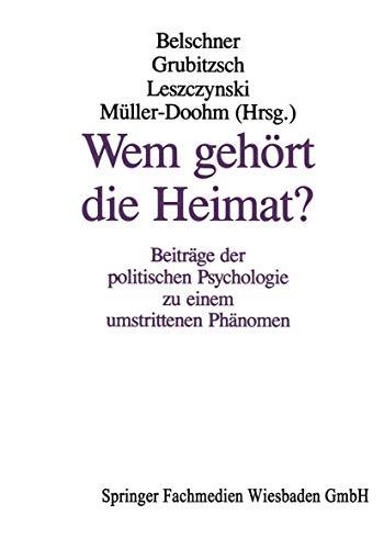 Wem gehört die Heimat?: Wilfried Belschner