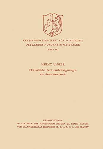 9783322979506: Elektronische Datenverarbeitungsanlagen und Automatentheorie (Zeitschrift für Betriebswirtschaft) (German Edition)