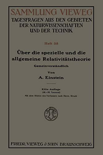9783322982728: Über die spezielle und die allgemeine Relativitätstheorie (Gemeinverständlich) (German Edition)