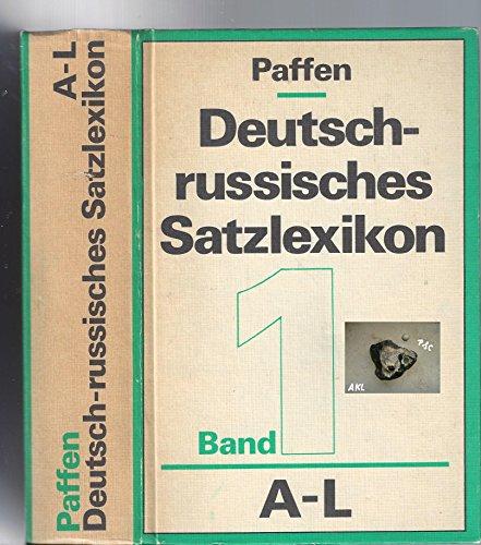 9783324003698: Deutsch-russisches Satzlexikon