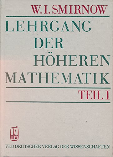 9783326000282: Lehrgang der höheren Mathematik 1