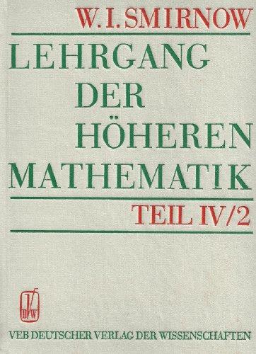 9783326003672: Lehrgang der höheren Mathematik IV/2.