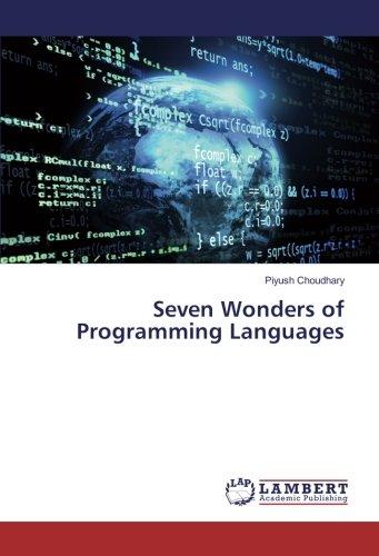 9783330026889: Seven Wonders of Programming Languages