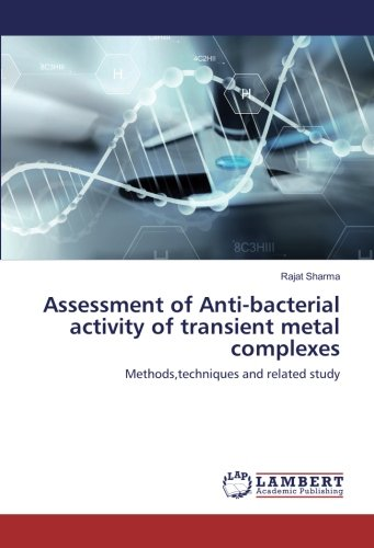 Assessment of Anti-bacterial activity of transient metal complexes: Methods, techniques and related...