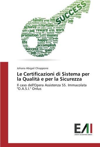 Le Certificazioni di Sistema per la Qualità: Johana Abigail Chiappone