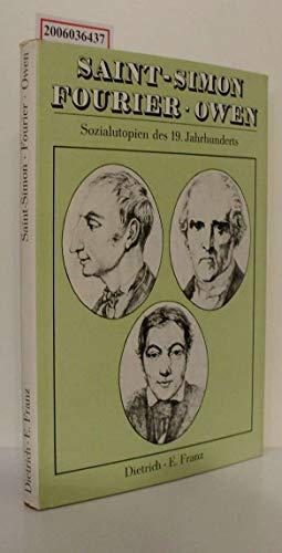 9783332000825: Saint-Simon, Fourier, Owen. Sozialutopien des 19. Jahrhunderts (Livre en allemand)
