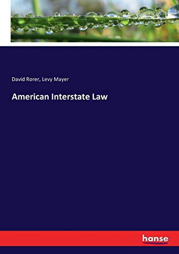 9783337233013: American Interstate Law