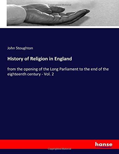 History of Religion in England - John Stoughton