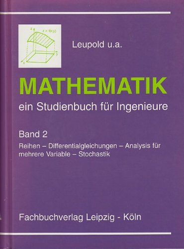 9783343008865: Mathematik: ein Studienbuch f�r Ingenieure, Band 2