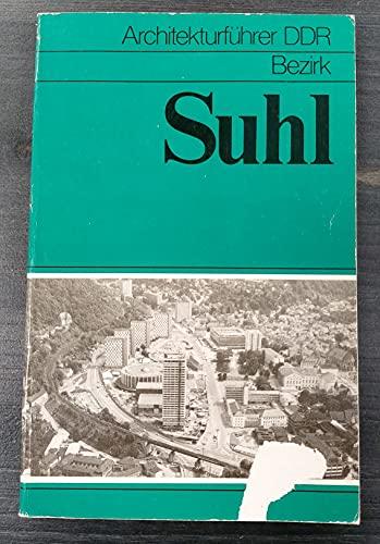 9783345002137: Architekturf�hrer DDR - Bezirk Suhl