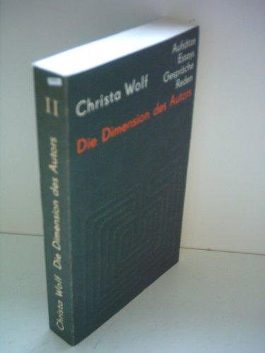 9783351003159: Die Dimension des Autors: Essays und Aufsätze, Reden und Gespräche 1959-1985