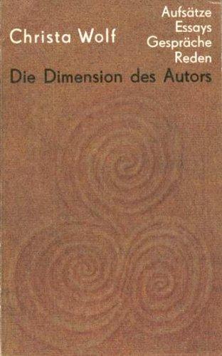 Die Dimension des Autors. Band I. Essays: n/a
