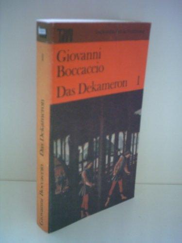 9783351005726: Giovanni Boccaccio: Das Dekameron [Band 1]