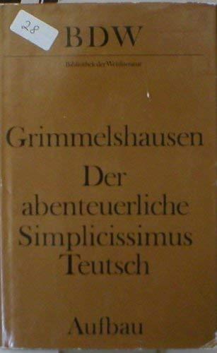 9783351006976: Der abenteuerliche Simplicissimus Teutsch