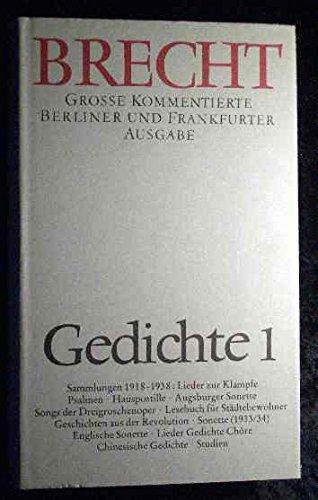 Gedichte 1: Bertolt Brecht