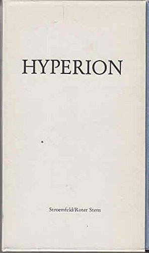 9783351016722: GEDICHTE; HYPERION ODER DER EREMIT IN GRIECHENLAND; BRIEFE.
