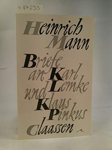 9783351019297: Briefe an Karl Lemke und Klaus Pinkus