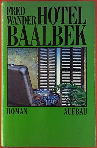 9783351020699: Hotel Baalbek: Roman