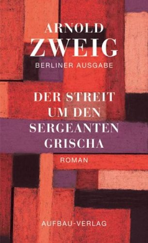 9783351022419: Der Streit um den Sergeanten Grischa. Roman
