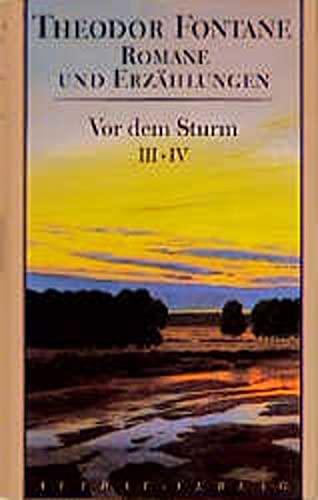 Romane und Erzählungen, 8 Bde., Bd.1/2, Vor dem Sturm (3351022530) by Theodor Fontane