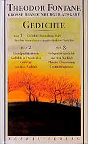 Gedichte, 3 Bde. (Große Brandenburger Ausgabe) (Fontane GBA Gedichte) Krueger, Joachim; Golz,...