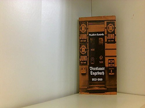 9783352000942: Breslauer Tagebuch, 1933-1940 (German Edition)
