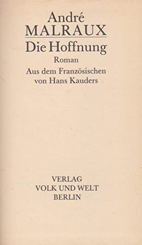 9783353000415: Die Hoffnung (Livre en allemand)