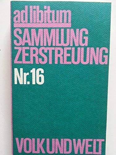 ad libitum Sammlung Zerstreuung Nr.16: Postman, Neil, Roman