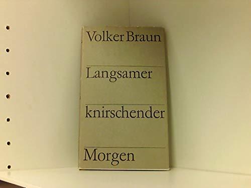 Langsamer knirschender Morgen: Gedichte: BRAUN, VOLKER.
