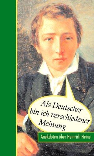 Als Deutscher bin ich verschiedener Meinung