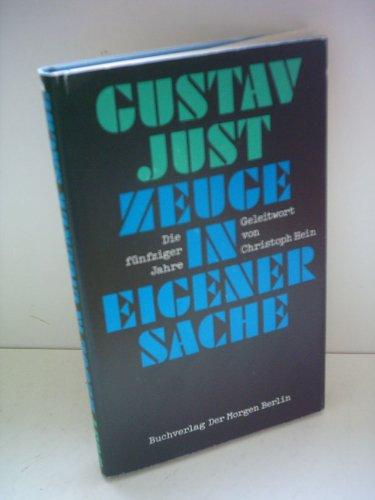 9783371003016: Zeuge in eigener Sache: Die fünfziger Jahre in der DDR