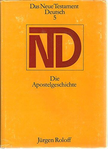 9783374004621: Das Neue Testament Deutsch 5 - Die Apostelgeschichte