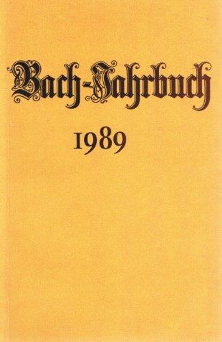 9783374005482: Bach-jahrbuch 1989.