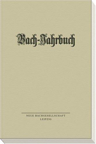 9783374023011: Bach-Jahrbuch 2005