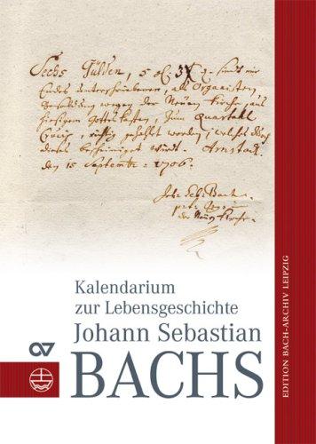 9783374025886: Kalendarium Zur Geschichte Johann Sebastian Bach (German Edition)