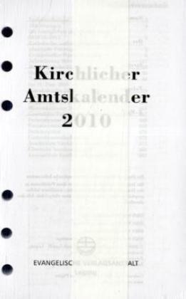 9783374026647: Kirchlicher Amtskalender 2010 Ringbucheinlage: Vom 1. Advent 2008 bis zum 31. Dezember 2010