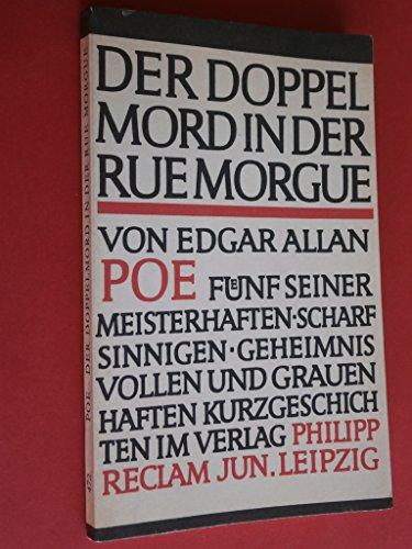 9783379000116: Der Doppelmord in der Rue Morgue. Kurzgeschichten.