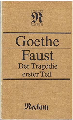 9783379000482: Faust. Der Tragödie erster Teil