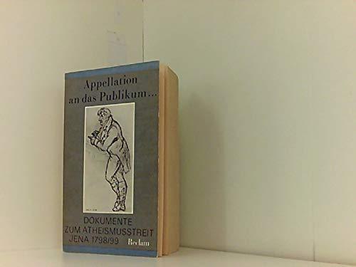 9783379000741: Appellation an Das Publikum (Philosophie, Geschichte, Kulturgeschichte) (German Edition)