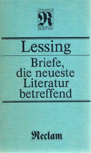 9783379000918: Briefe, die neueste Literatur betreffend: Mit einer Dokumentation zur Entstehungs- und Wirkungsgeschichte (Kunstwissenschaften)