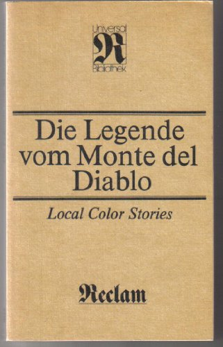 9783379001120: Die Legende vom Monte del Diablo. Local Color Stories
