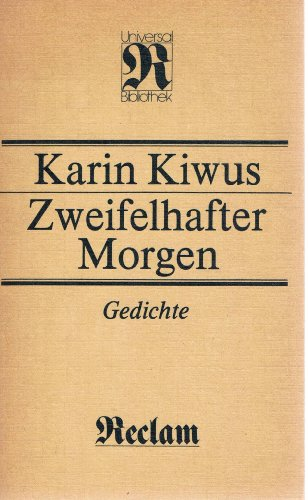 9783379001618: Zweifelhafter Morgen: Gedichte (Belletristik) (German Edition)
