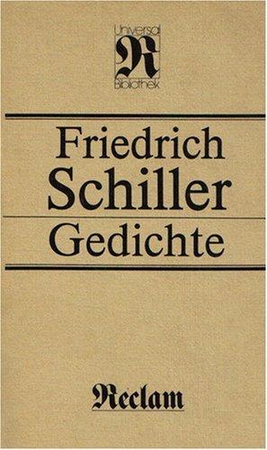 9783379002080: Friedrich Schiller GEDICHTE (Reclam Universal Bibliothek Band 36)