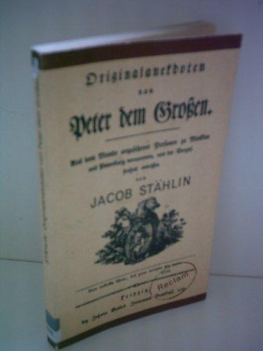 9783379002936: Originalanekdoten von Peter dem Grossen (Reclams Universal-Bibliothek) (German Edition)