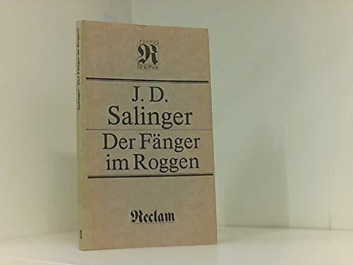 Der Fänger im Roggen.: Salinger, Jerome D.: