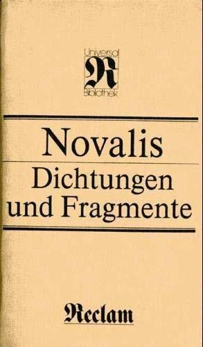 9783379004558: Dichtungen und Fragmente (Reclams Universal-Bibliothek) (German Edition)